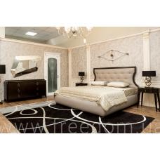 Комплект: кровать с сетью, 2 прикроватные тумбы, комод, зеркало Royale Selva
